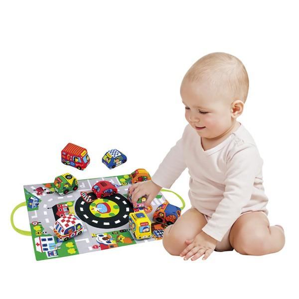 カーズ・イン・タウン ケーズキッズ 車 布おもちゃ 出産祝い 1歳 2歳 誕生日 プレゼント|mokuguru|04