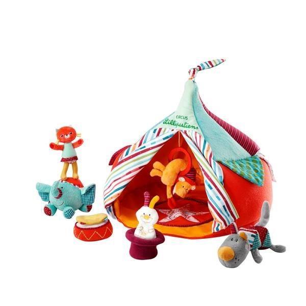 リリピュション サーカスハウス 布のおもちゃ 出産祝い 1歳 2歳 3歳 誕生日 プレゼント|mokuguru
