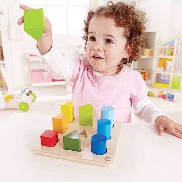 カラーアンドシェイプソーター 形合わせ ペグさし 積木 知育玩具 1歳半 2歳 誕生日 プレゼント|mokuguru|02