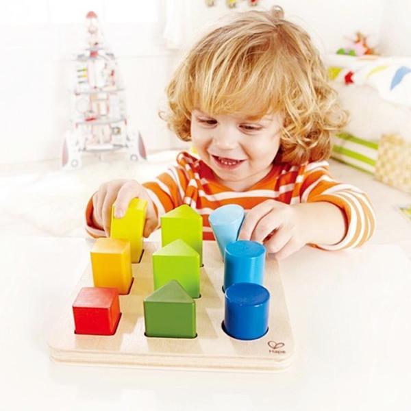 カラーアンドシェイプソーター 形合わせ ペグさし 積木 知育玩具 1歳半 2歳 誕生日 プレゼント|mokuguru|03