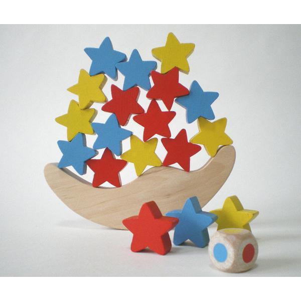 お月さまお星さま バランスゲーム 木のおもちゃ 3歳 4歳 5歳 誕生日 プレゼント|mokuguru