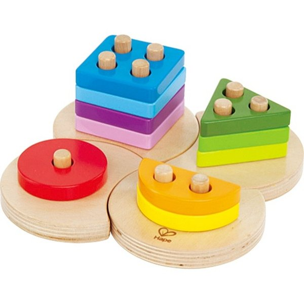 ジオメトリックソーター 図形 パズル 知育玩具 2歳 3歳 誕生日 クリスマス プレゼント|mokuguru