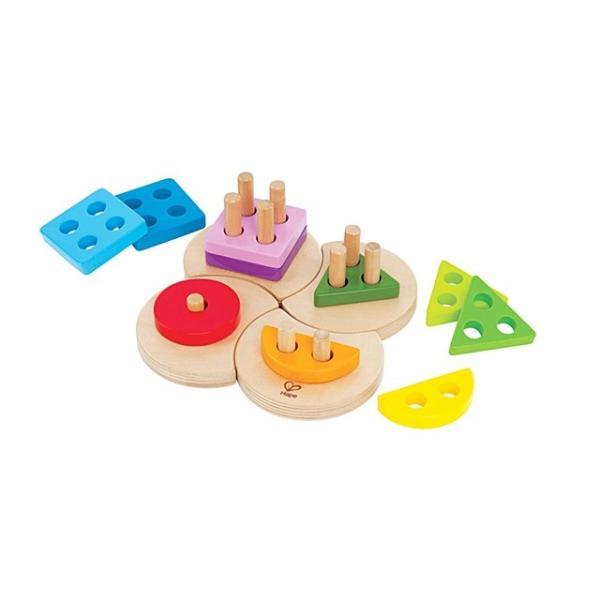 ジオメトリックソーター 図形 パズル 知育玩具 2歳 3歳 誕生日 クリスマス プレゼント|mokuguru|02