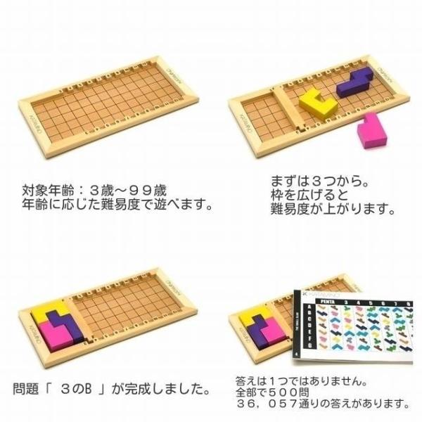 カタミノ KATAMINO 学習ハンドブックつき 脳トレ パズル 知育玩具 ギガミック ボードゲーム|mokuguru|02