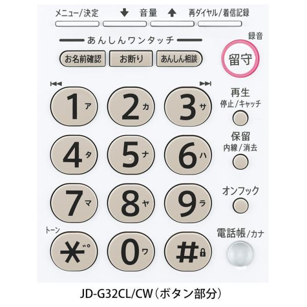 送料無料(一部地域除く)SHARP シャープ 電話機 JD-G32CL・親機のみ・迷惑電話対応機能付・留守録機能・壁掛け対応 訳あり特価! |mokus|03