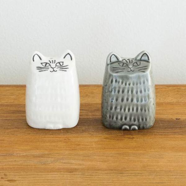 RoomClip商品情報 - LisaLarson リサ ラーソン 小さいネコ ソルト&ペッパー 白 グレー2個セット
