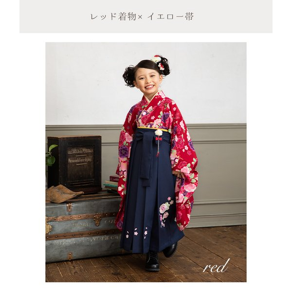 7189fb144fc0a ... 袴 セット 卒園式 小学校 入学式 女の子 120 130 着物+半襟付き襦袢 ...