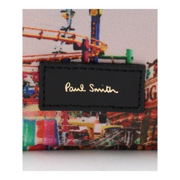 ポールスミス ポーチ レディース プリントポーチ ネイビー系 Paul Smith