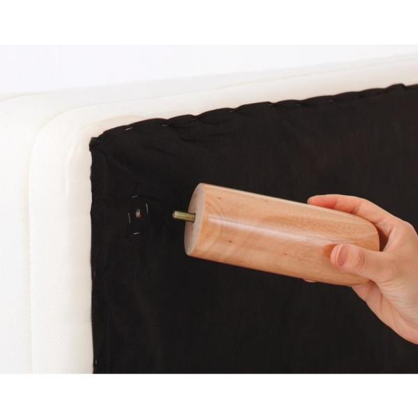 マットレスベッド ポケットコイル 家族を繋ぐ連結大型サイズ ELAMS エラムス  タオルタイプセット 脚22cm ワイドキング200|momoda|04