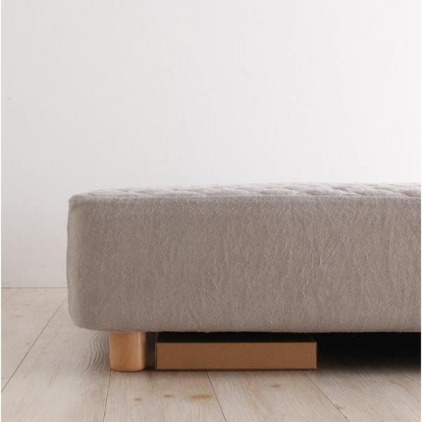 家族を繋ぐ大型マットレスベッド ELAMS エラムス ポケットコイル タオルタイプセット クイーン 脚30cm|momoda|16