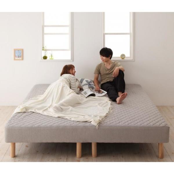 家族を繋ぐ大型マットレスベッド ELAMS エラムス ポケットコイル タオルタイプセット クイーン 脚30cm|momoda|20