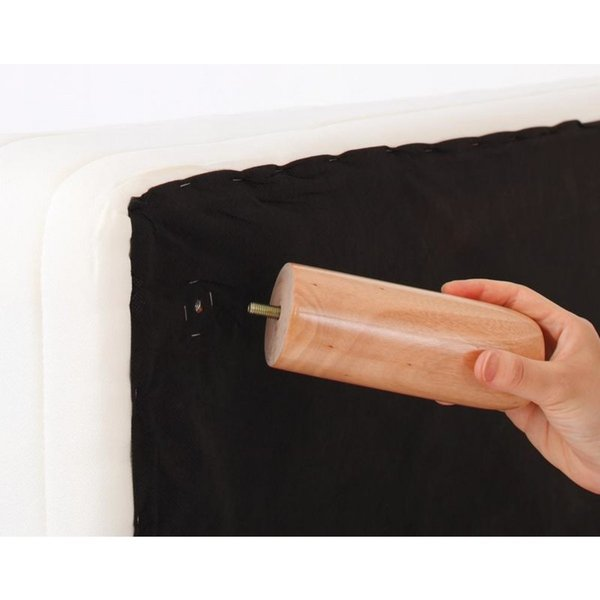 家族を繋ぐ大型マットレスベッド ELAMS エラムス ポケットコイル タオルタイプセット クイーン 脚30cm|momoda|04