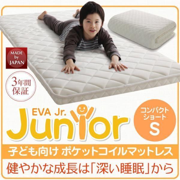 送料無料 子供マットレス 子ども 睡眠環境 安眠マットレス 薄型 軽量 高通気 ジュニア ポケットコイル EVA エヴァ シングル ショート丈|momoda