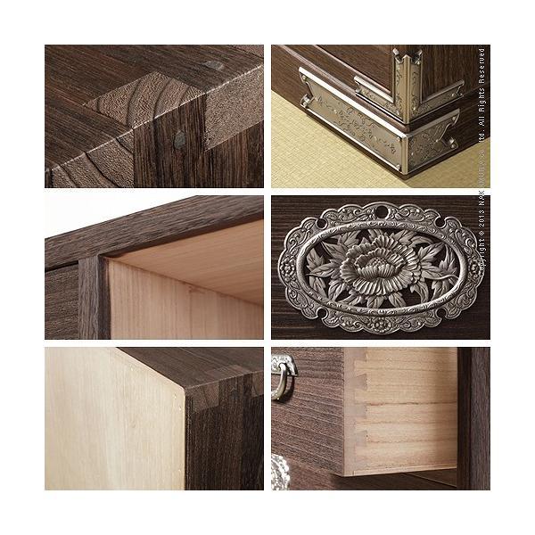 焼桐収納箪笥 5段 三条(さんじょう) 桐タンス 桐たんす 着物 収納|momoda|02
