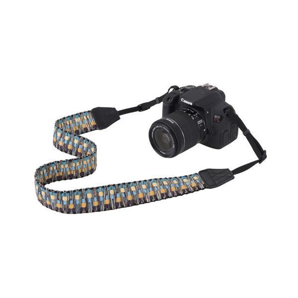 エツミ Gevaert カメラストラップ ビビッドシャギー イエロー/オレンジ VGV-005