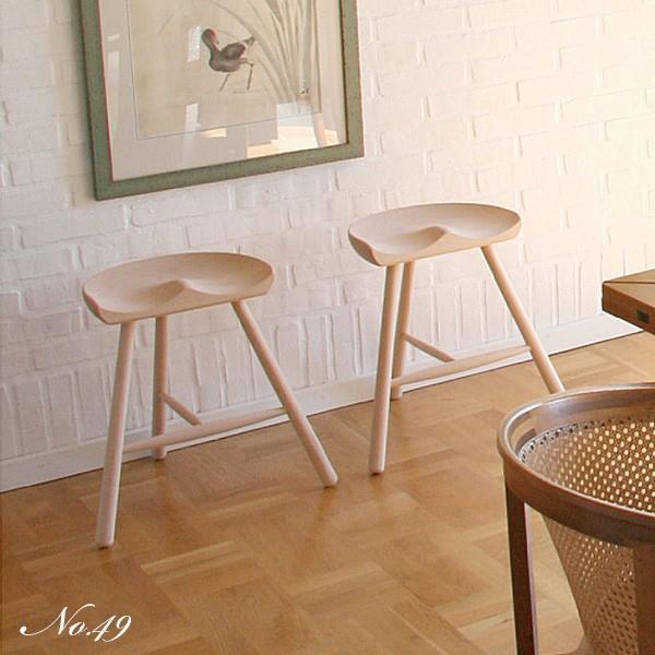 シューメーカーチェア スツールNo.49 無塗装 Shoemaker Werner 北欧 デンマーク ワーナー社|momoda|02