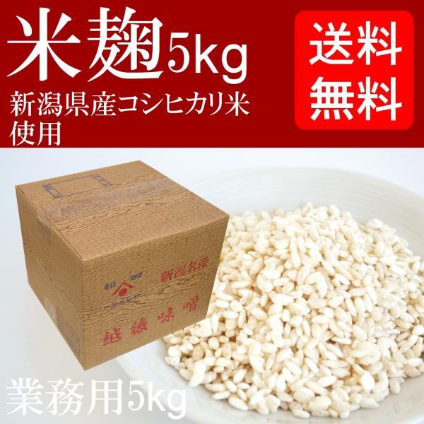 【送料無料】 業務用 米麹 5kg 生麹 冷凍 ダンボール入り(甘酒の麹や塩麹作り、味噌作りなどに最適です)