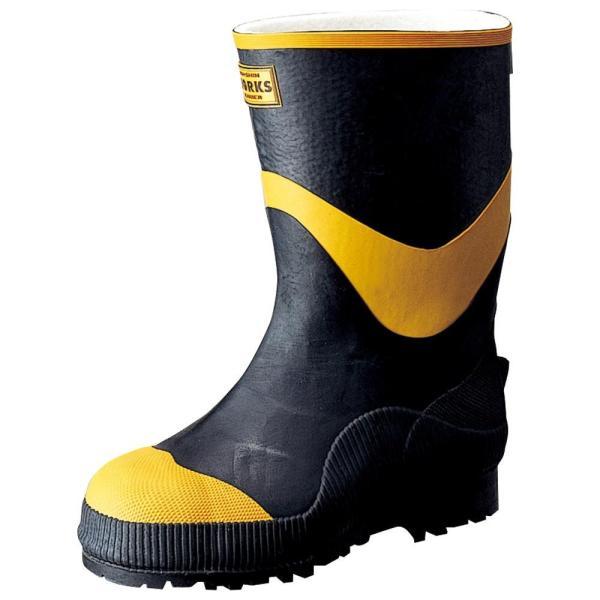 送料無料弘進ゴム 長靴(ゴム製) フェルト安全半長F型 24.5cm A0026BH