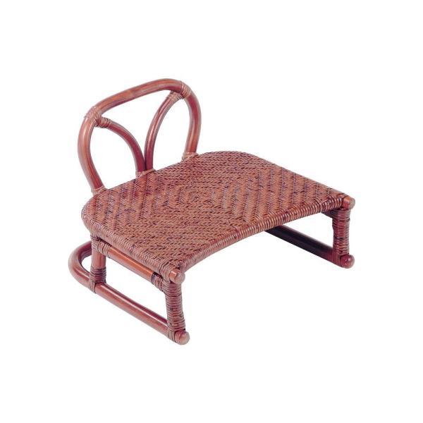 送料無料今枝ラタン 正座椅子 ブラウン SZ-204D