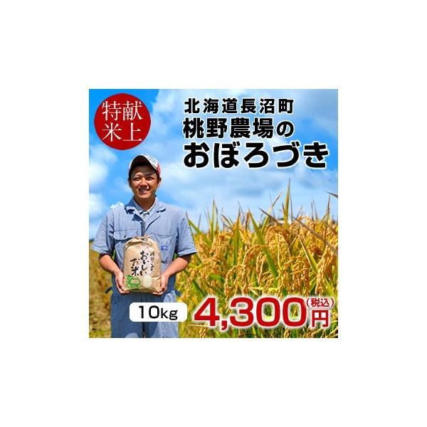 おぼろづき 10kg(5kg×2袋)新米 令和元年産 2019 北海道米 特A 皇室献上米 生産者 農家直送 長沼町 桃野農場