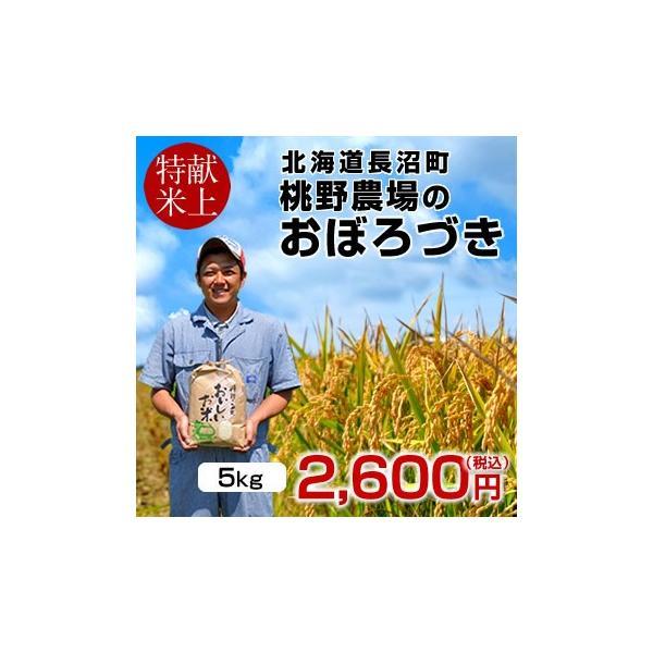 おぼろづき 5kg 新米 令和元年産 2019 北海道米 特A 皇室献上米 生産者 農家直送 長沼町 桃野農場