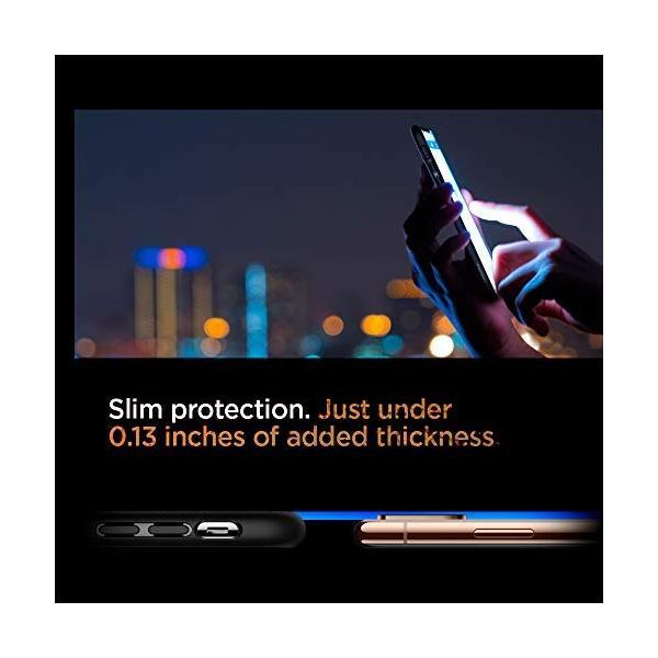 【Spigen】 スマホケース iPhone XS ケース/iPhone X ケース 5.8インチ TPU 米軍MIL規格取得 耐衝撃 リキッド・エアー 057CS22123 (マット・ブラック)|momos-shop|04