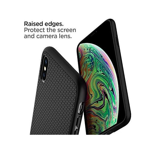【Spigen】 スマホケース iPhone XS ケース/iPhone X ケース 5.8インチ TPU 米軍MIL規格取得 耐衝撃 リキッド・エアー 057CS22123 (マット・ブラック)|momos-shop|05