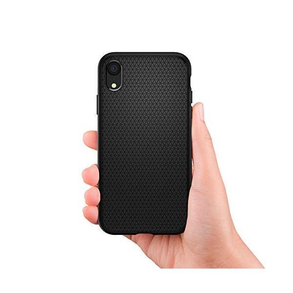 【Spigen】 スマホケース iPhone XR ケース 6.1インチ 対応 TPU 米軍MIL規格取得 保護力 衝撃吸収 リキッド・エアー 064CS24872 (マット・ブラック) momos-shop 03
