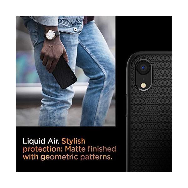 【Spigen】 スマホケース iPhone XR ケース 6.1インチ 対応 TPU 米軍MIL規格取得 保護力 衝撃吸収 リキッド・エアー 064CS24872 (マット・ブラック) momos-shop 05