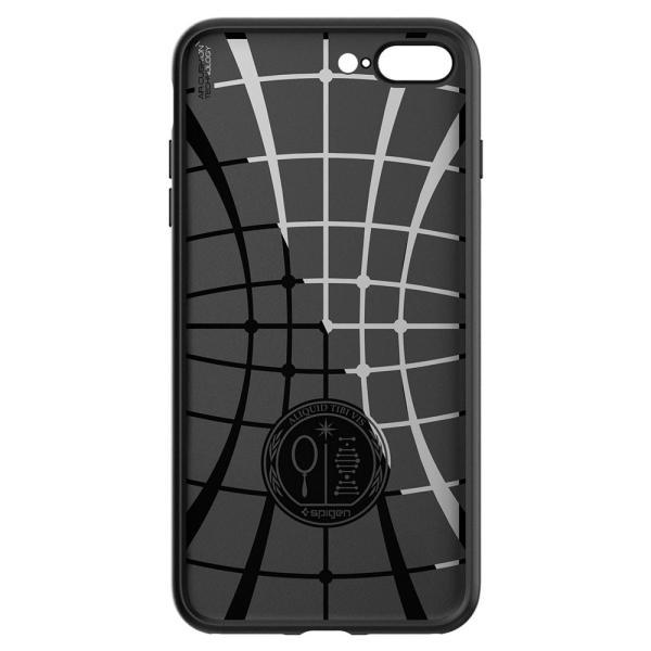 【Spigen】 スマホケース iPhone8 Plus ケース / iPhone7 Plus ケース 対応 TPU 米軍MIL規格取得 耐衝撃 リキッド・エアー 043CS20525 (ブラック)|momos-shop|04