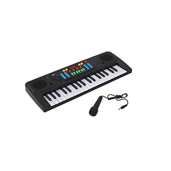 ほうねん堂エレクトーンキーボード電子オルガンピアノ37鍵盤マイク付き子供楽器おもちゃ