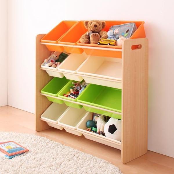 おもちゃ収納 おもちゃ箱 こども部屋収納 キッズ家具 子供部屋 木製 おしゃれ 人気 かわいい 4段 mon-tana