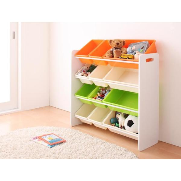 おもちゃ収納 おもちゃ箱 こども部屋収納 キッズ家具 子供部屋 木製 おしゃれ 人気 かわいい 4段 mon-tana 02