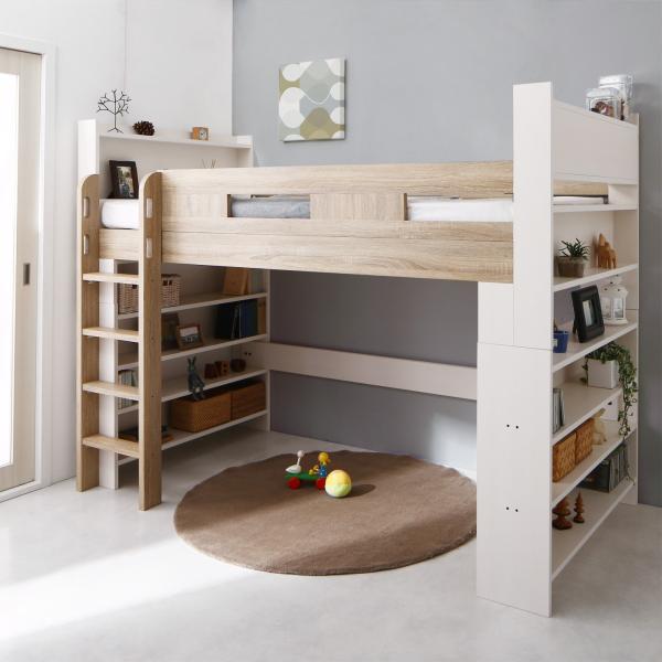 2段ベッド 二段ベッド こども用ベッド 2段ベット 北欧 シンプル おしゃれ ローベッド ロータイプ 人気 フレームのみ 組立設置付き|mon-tana|02