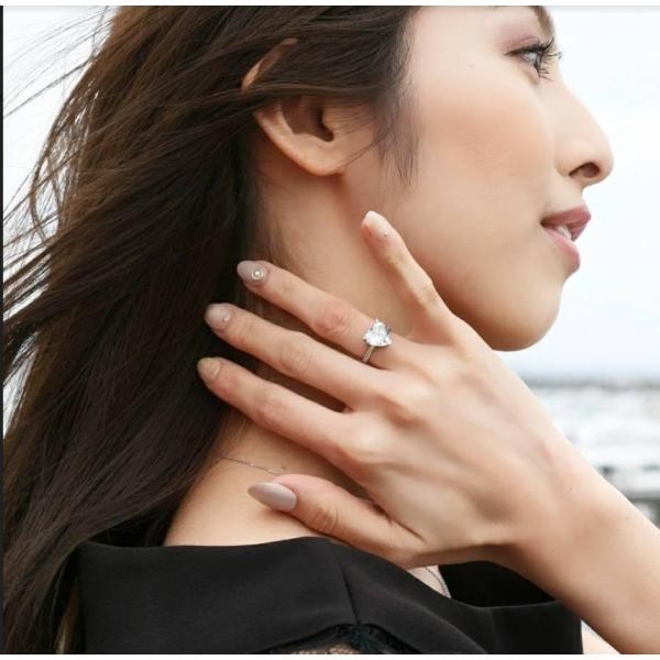 ハートシェイプ 指輪 リング ハート型 婚約指輪 ハート型 かわいい おすすめ 人気|monacofashion|05