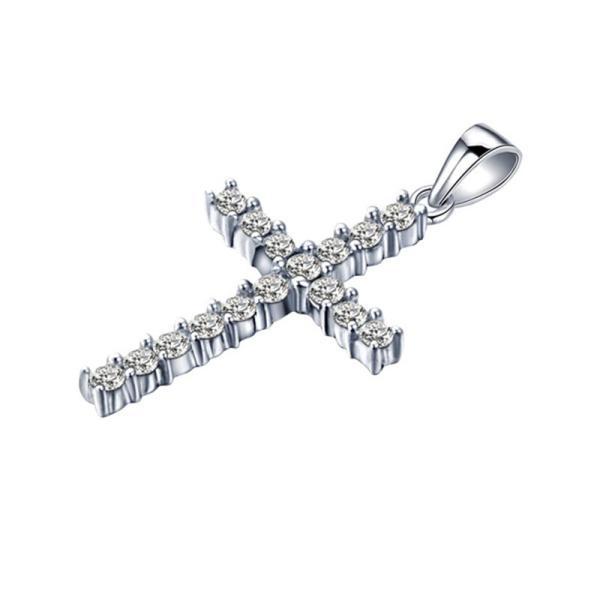 クロス ネックレス ペンダント 十字架 人工ダイヤモンド|monacofashion|02