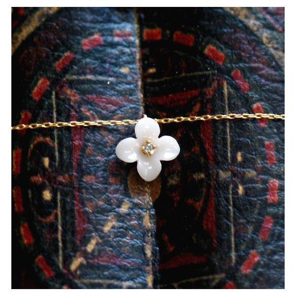 ビオラネックレス(白珊瑚) kiyolakrei公式オンライン