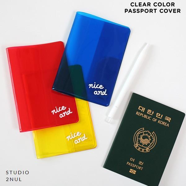 2nul イナル クリアーカラーパスポートケース/韓国雑貨
