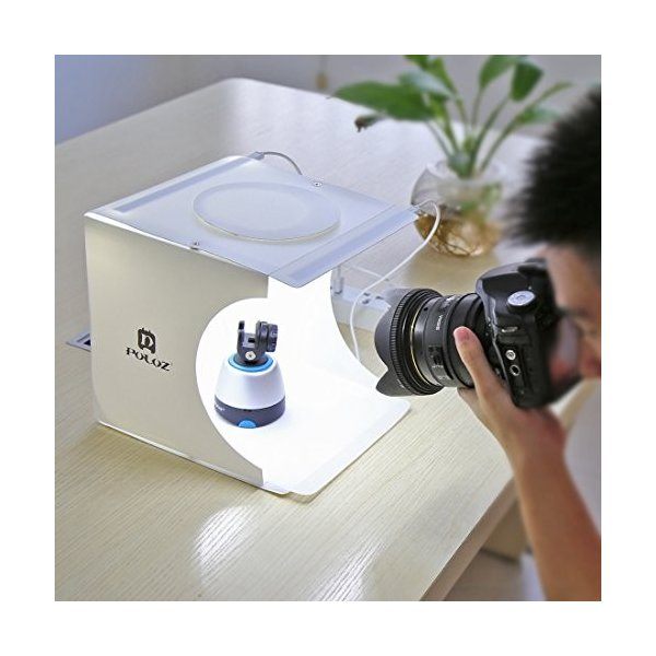 SAKARA 撮影ボックス 22*23*24cm小型 折り畳み式 簡単に組み立てる USB給電 簡易撮影スタジオ 六色の背景布 2行20pcsのLED