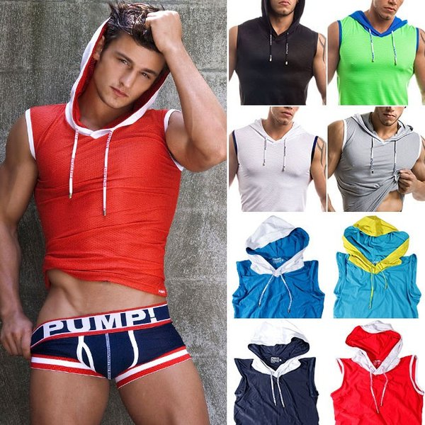 PUMP パンプ スリーブレス パーカー タンクトップ トレーニングウェア トップス PUMP! Underwear メンズ フィットネス 筋トレ monkey