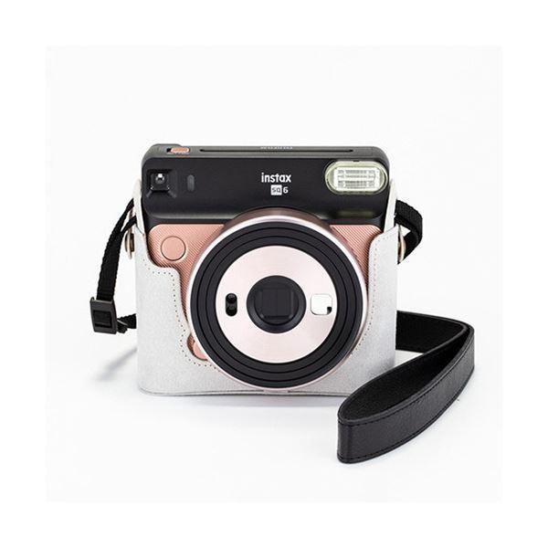 富士フイルム カメラケース(速写ケース)チェキスクエア instax SQUARE SQ6用 ライトベージュ 1個