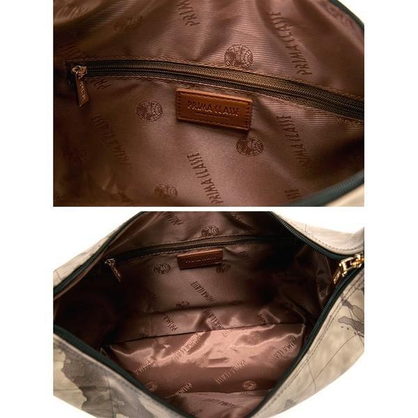 PRIMA CLASSE(プリマクラッセ)PSH7-8131 サイドのファスナーポケットがポイント2Wayバッグ (グレイ)