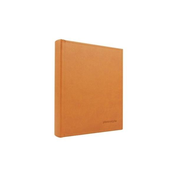 キング レザーポケットアルバム チェキ&カードサイズ80枚収納 オレンジの画像