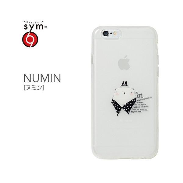iPhone6s Plus/6 Plus ケース キャラクター 個性的 半透明 柔らかい ソフトケース TPU 印刷が剥がれない フェルトパッケージ NUMIN(ヌミン) 乳白クリア