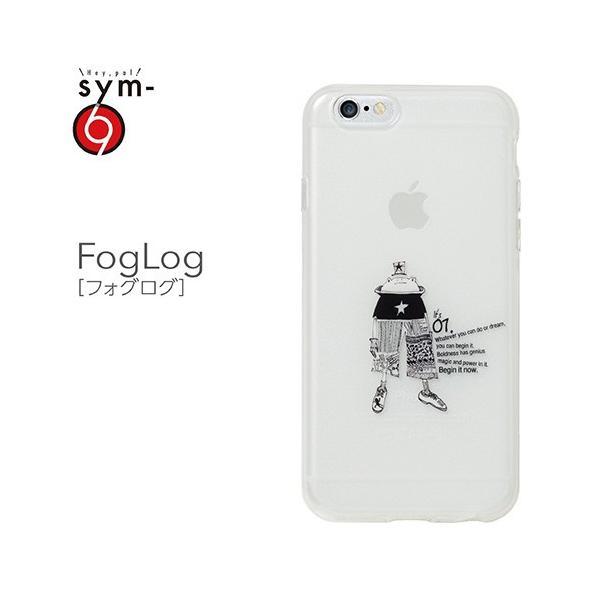 iPhone6s/6 ケース キャラクター 個性的 半透明 柔らかい ソフトケース TPU 印刷が剥がれない フェルトパッケージ FogLog(フォグログ) 乳白クリア