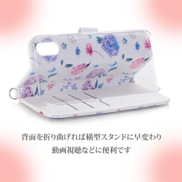 iPhone 11 ケース 手帳型 iphone11 pro max スマホケース タッセル付き カード収納 アイフォン 手帳型カバー 花柄|monocase-store|08