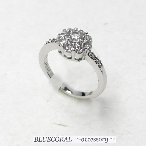 (送料無料)指輪 可愛い レディース ジルコニア フラワーリング