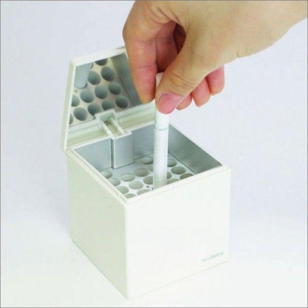 灰皿 卓上灰皿 おしゃれ フタ 蓋 アシュトレイキューブ ホワイト ashtray|monogallery|04