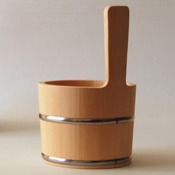 手桶 湯おけ 湯手桶 湯手おけ 洗面器 風呂桶  風呂おけ ペール 木製 木曽 さわら 日本製 おしゃれ ( ambai アンバイ 手桶 )