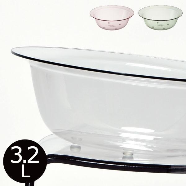 フランクタイム ウォッシュボール 洗面器 風呂桶 アクリル 高級感 クリア 3.2L